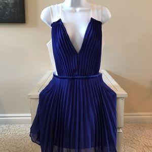 Bebe fancy tulle cutout dress